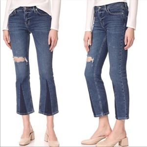 NWT Free People High Rise Cropped Flare Jean
